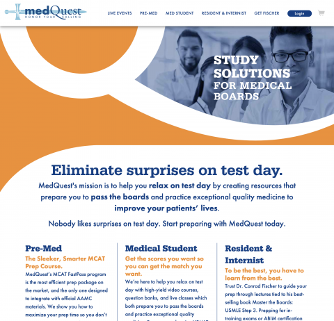 MedQuest — Homepage