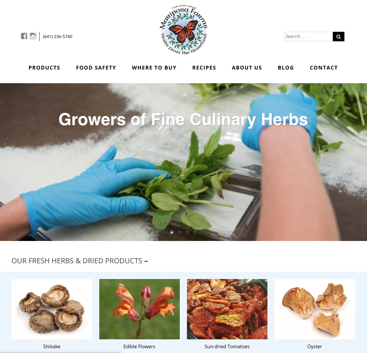 Mariposa Farms Homepage