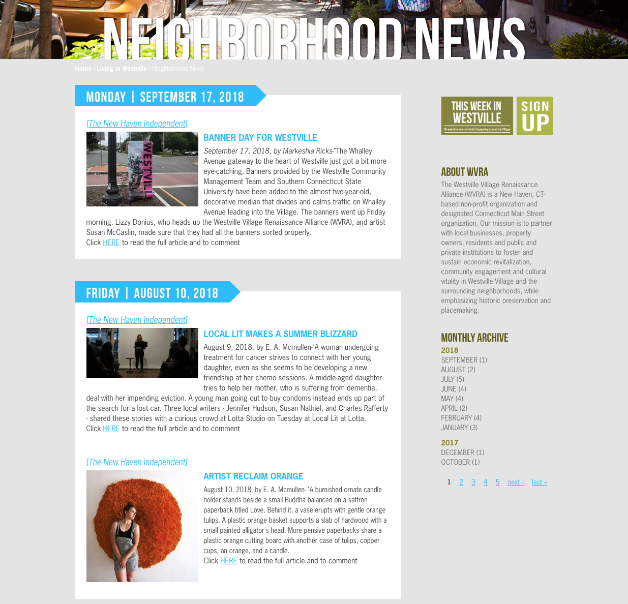 Neighborhood News/Blog